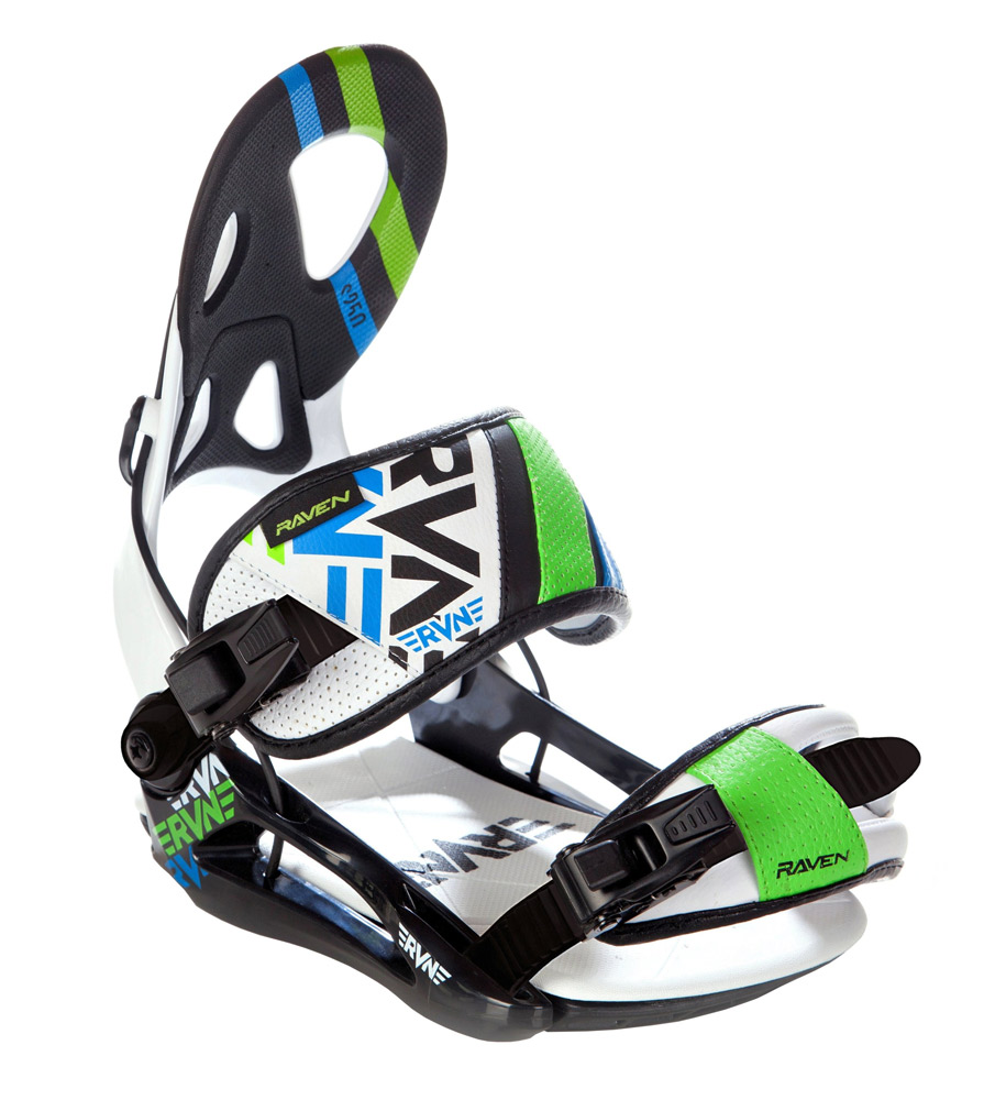 wiązania Raven s250 black/white/green/blue